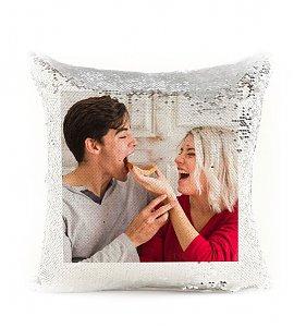White Sequin Personalized Magic Cushion