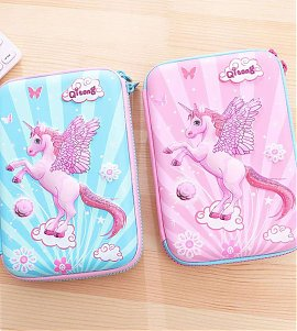 Unicorn Pattern Jumbo Pencil Box