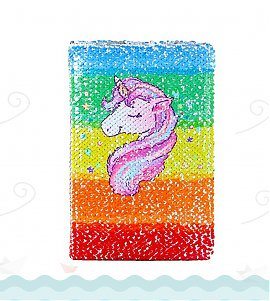 Unicorn (Sequin Notebook Colour Changing Reversible Girls Diary A5