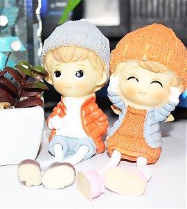 Cute Romantic Love Hanging Leg Couple Showpieces