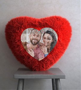Personalised Mosaic Heart Cushion