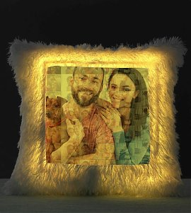 Personalised Mosaic LED Cushion