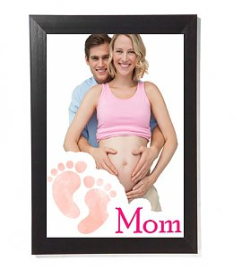 A3 personalized baby shower frame