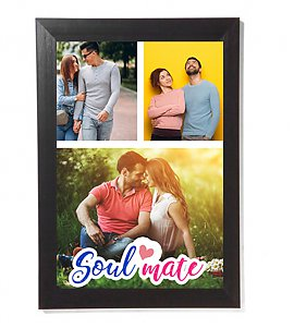 Both Soulmate  couple personalized photoframe