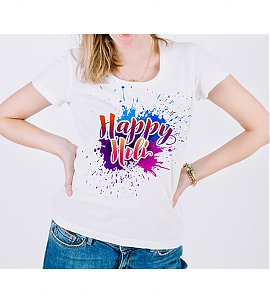 Colourful Trendy Holi Printed T-shirt