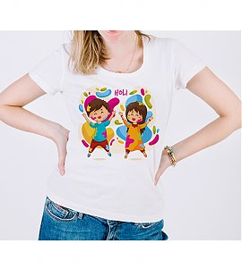 Cute  Child Play Holi T-shirt