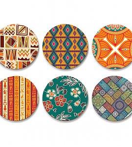 Ethnic design Coaster- set of 6