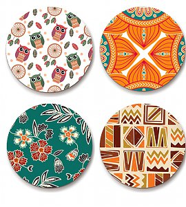 Ethnic design - Set of 4