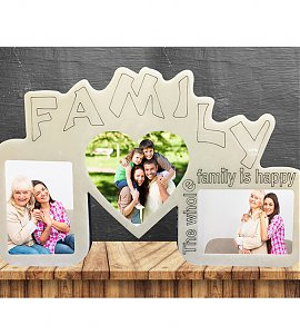 Family Frame with Family Members  Photo