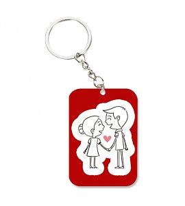 Holding hand love keychain