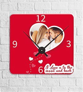 Moon and back personalised clock