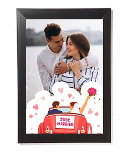 Newly Married Couple Personalized Photoframe