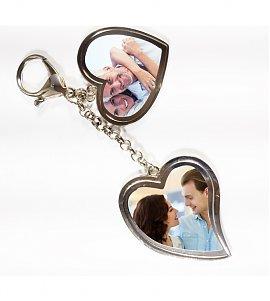 You & I Personalized Valentine Heart Shaped Keychain