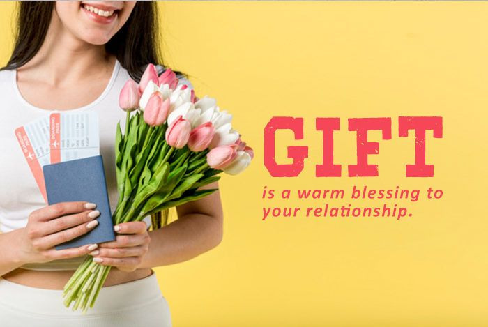Gift is a warm blessing to your relationship