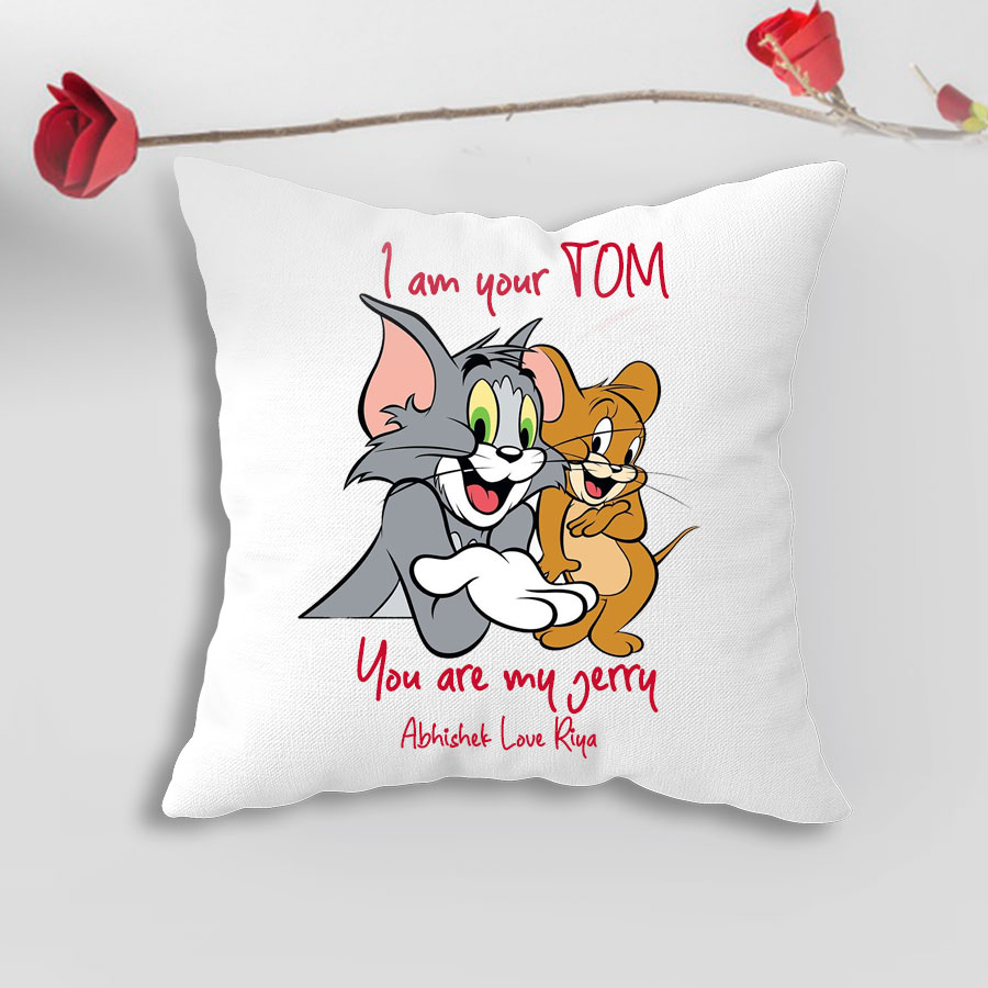 Your Name Tom And Jerry Personalized Pillow Case Custom Made w