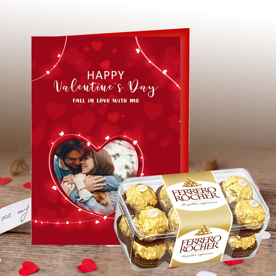 Valentine Greeting Card with Ferrero Rocher