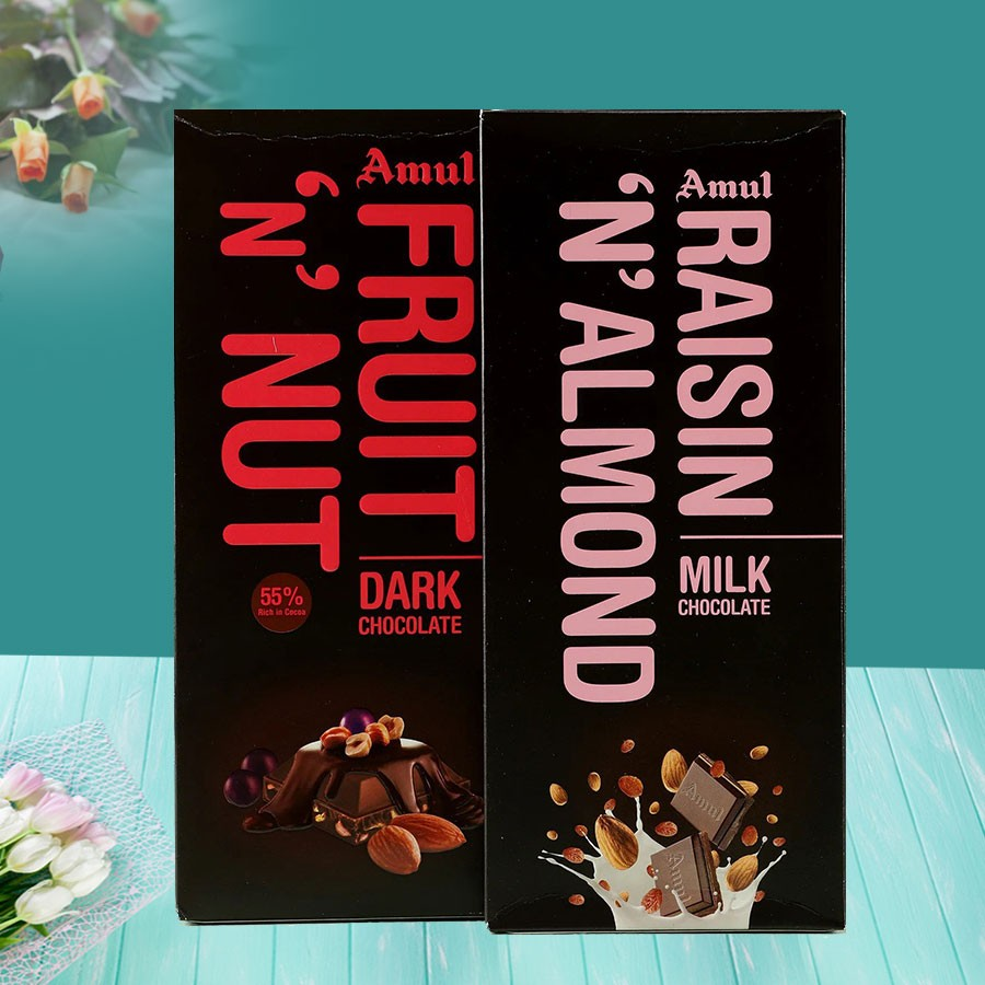 Nutty Amul Chocolates Pack With Gift Wrap