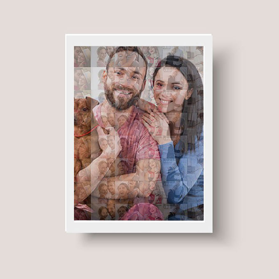 Personalised Mosaic Photoframe