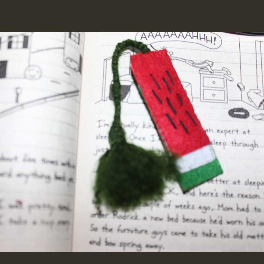 Felt Bookmark with wool tassel