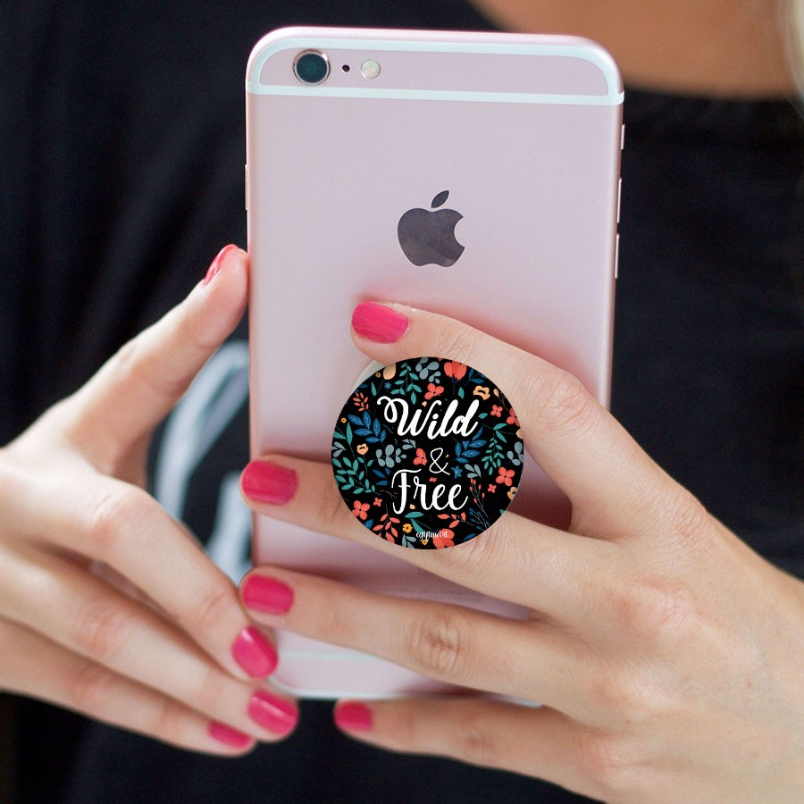 Wild and Free Phone Pop Socket - Any Phone Holder