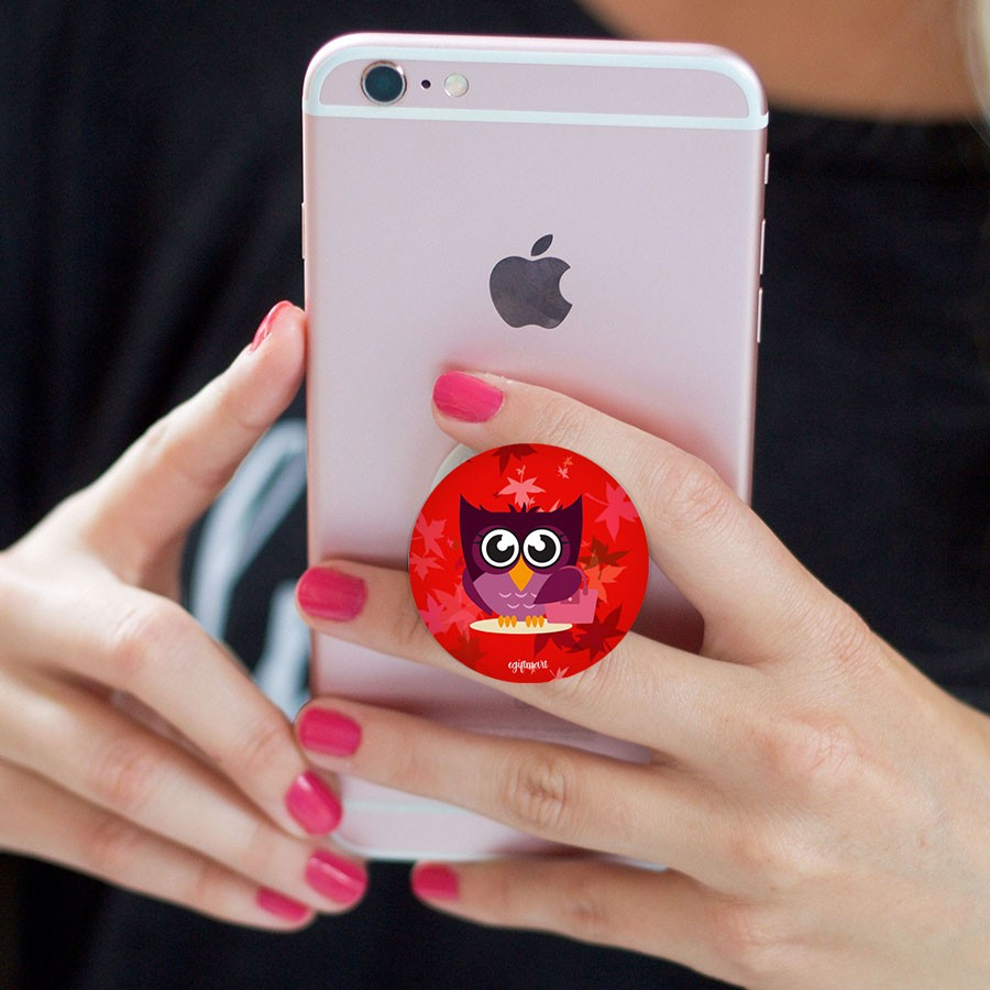 Owl Mobile Phone Pop Socket - Any Phone Holder