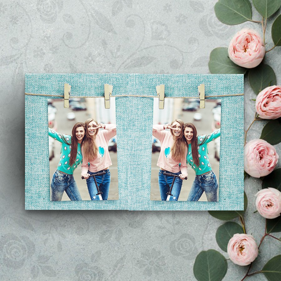 Clip Style Blue Photo Frame