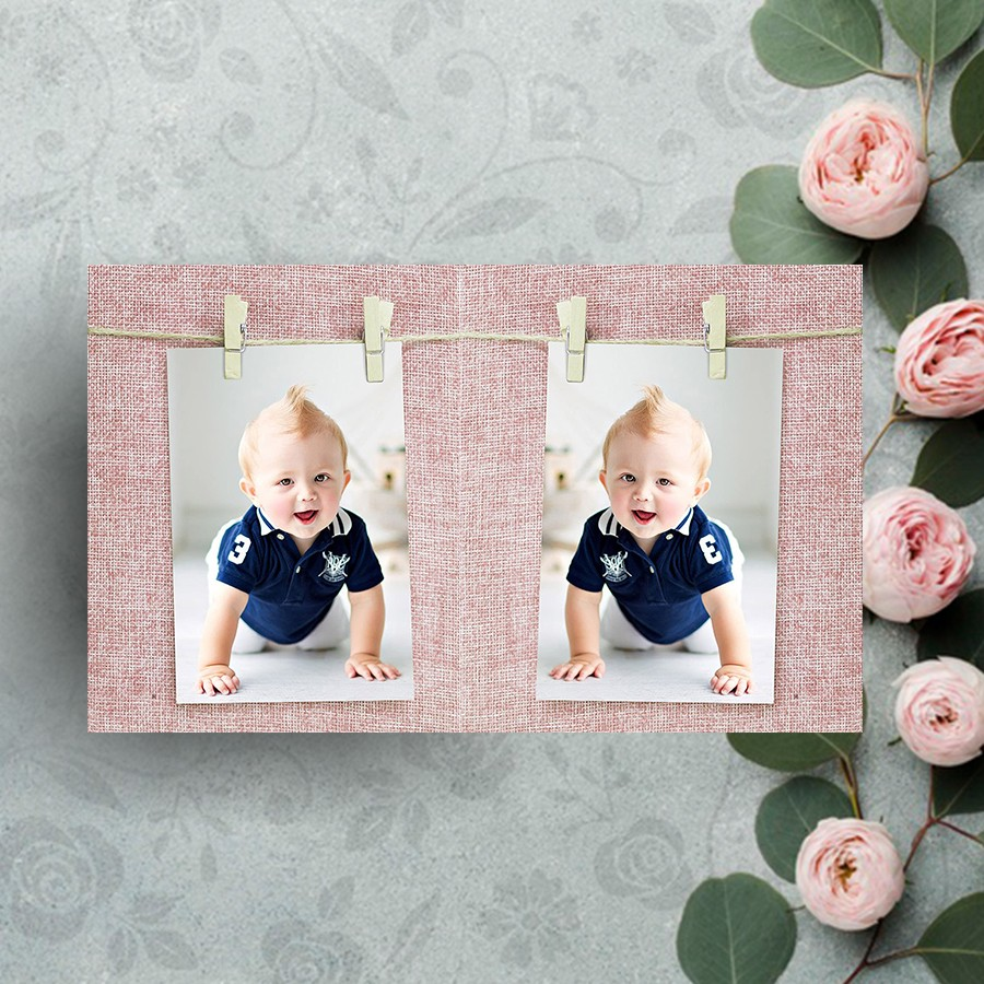 Clip Style Pink Photo Frame