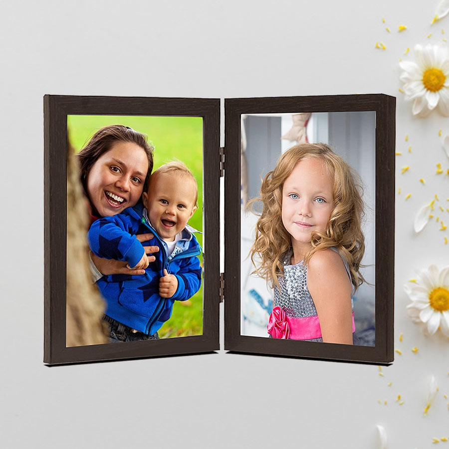 Personalised Double Side Photo Frame 6x4