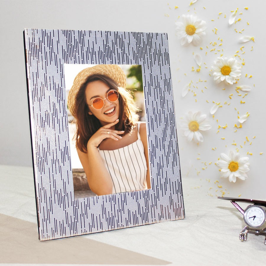 Golden Photo Frame Self Print Picture