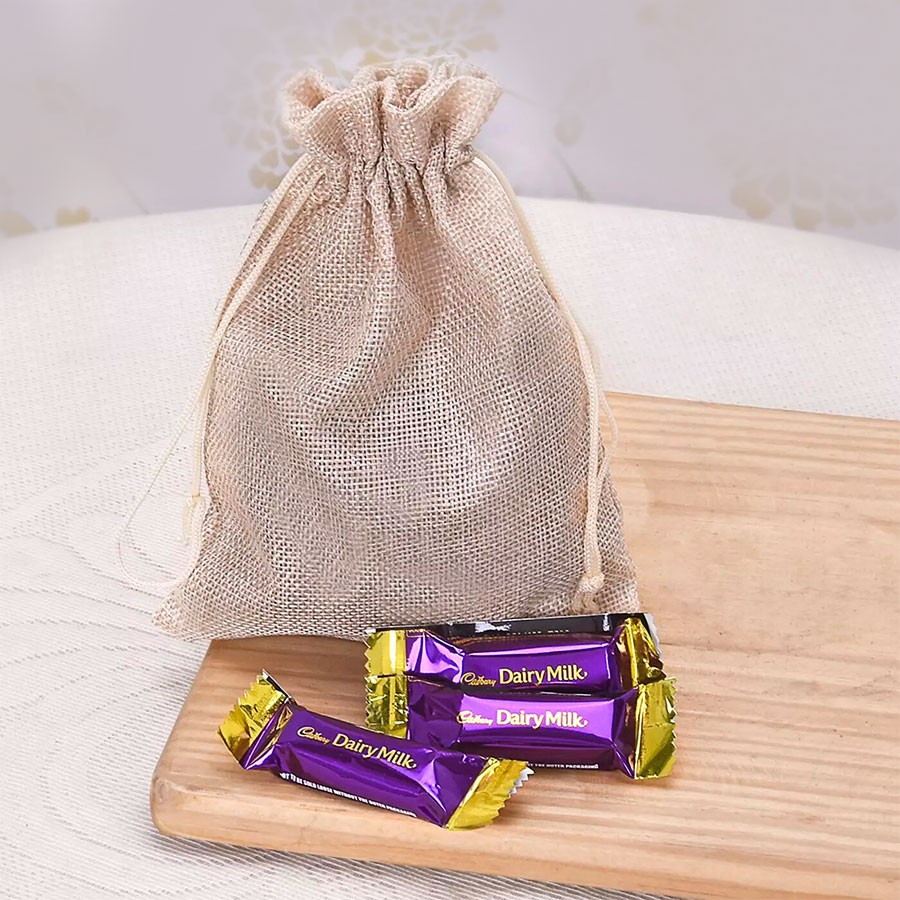 Mini Dairy Milk Treats in a Potli Bag