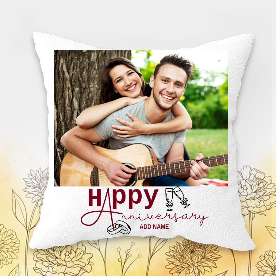 Personalized Anniversary Cushion 12x12 inch