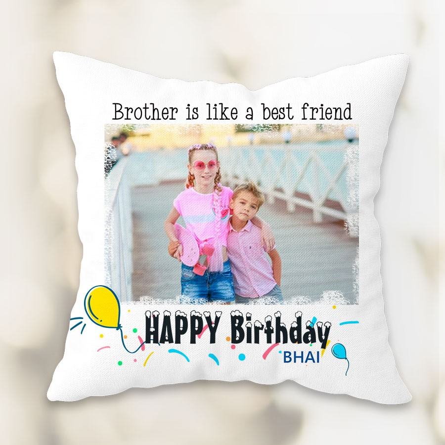 Personalized Birthday  Cushion for Brother 12x12