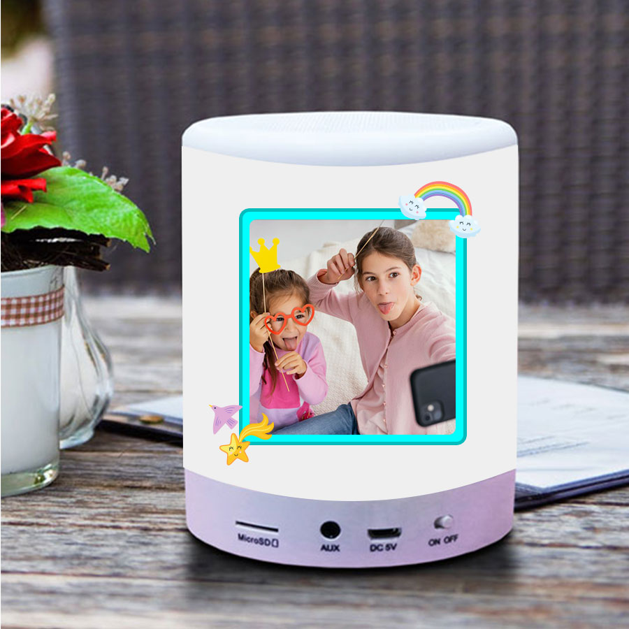 Personalized My Love Touch Lamp Bluetooth Speaker