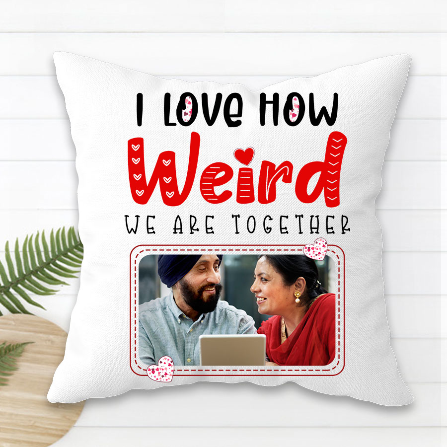 Weird Together Personalized Photo Cushion 12x12