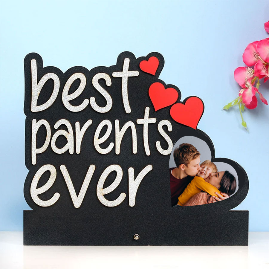 Personalized Best Parents Ever Photo Frame Table Top