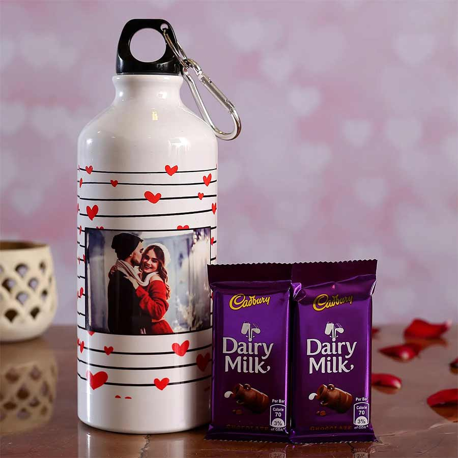 personalized  Bottle with Cadbury chocolates