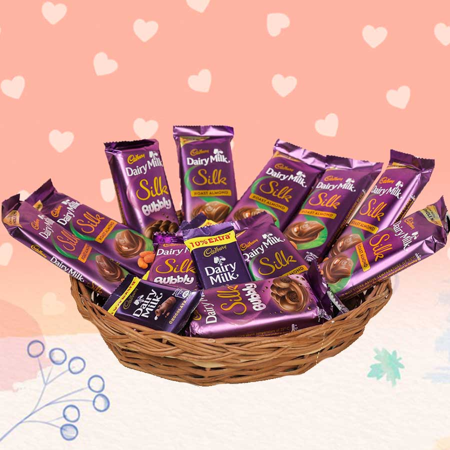 Heart Melted Slik Cadbury Chocolates Bundle