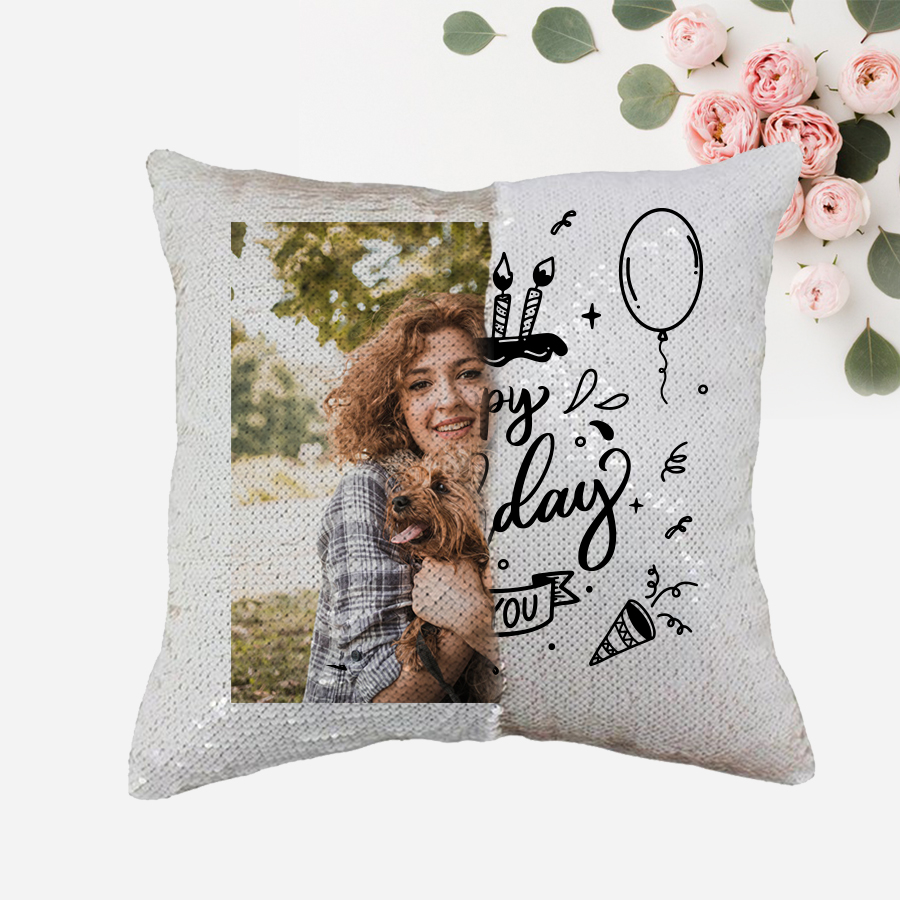 Personalized Double Photo Magic Cushion