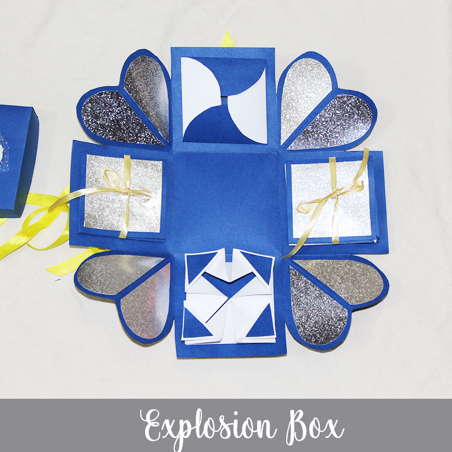 1 Layer Explosion box with Photo and Message