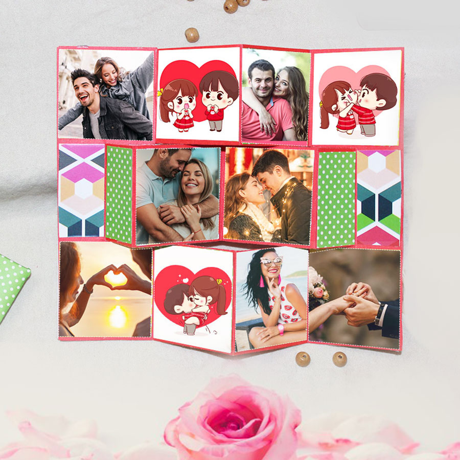 Trifold Handmade Card for Love