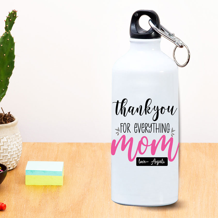 Thankyou for mom personalized bottle