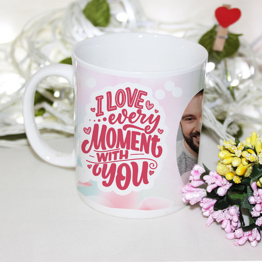 Photo mug with love quotes