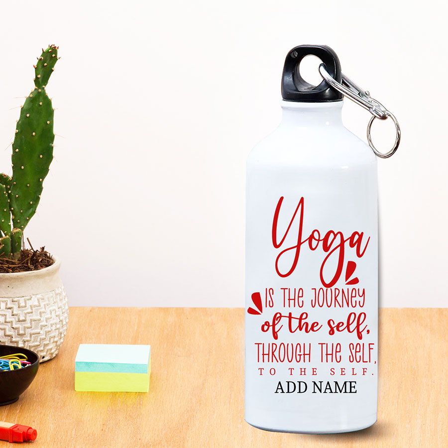 Fitness love quotes with personalzed bottle